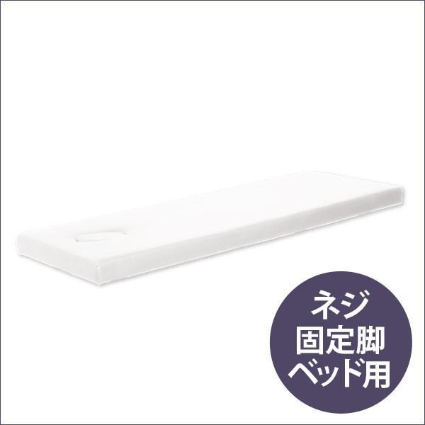 ネジ固定脚ベッド低反発天板(有孔)ホワイト 190×65cm 「 マッサージベッド 施術ベッド 整体ベッド エステベッド エステベッド 」