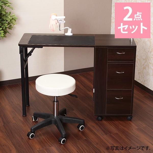 【スクール生応援】収納付折りたたみネイルテーブル2点セット