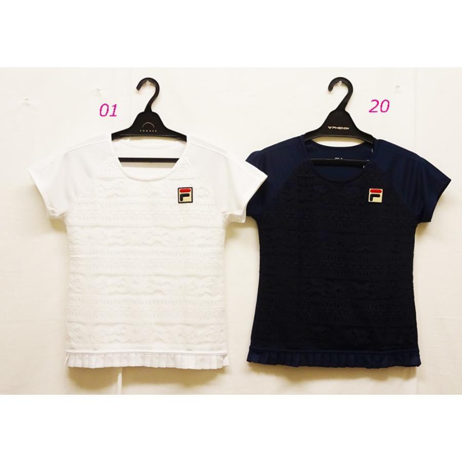 テニスウェアレディース フィラ(FILA) 2019ゲームシャツ VL1927−半袖シャツ