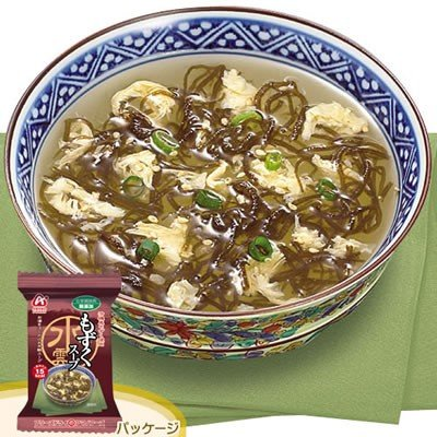 アマノフーズ フリーズドライ 化学調味料無添加海藻スープ もずくスープ 10食入 200113 nts