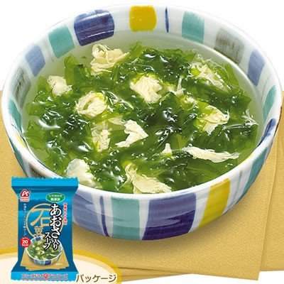 アマノフーズ フリーズドライ 化学調味料無添加海藻スープ あおさ入りスープ 10食入 200144|nts
