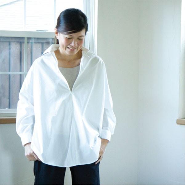 スキッパーカラーシャツ  スキッパーカラー シンプル ベーシック 大人ナチュラル 30代 40代  春 春トップス|ntsen|09