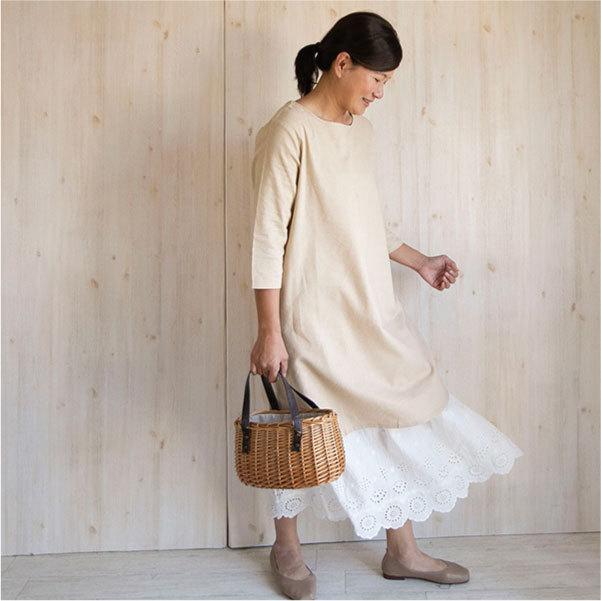 ワンピース   カジュアル ベーシック 綿 コットン 麻 リネン  春 春ワンピース|ntsen|09