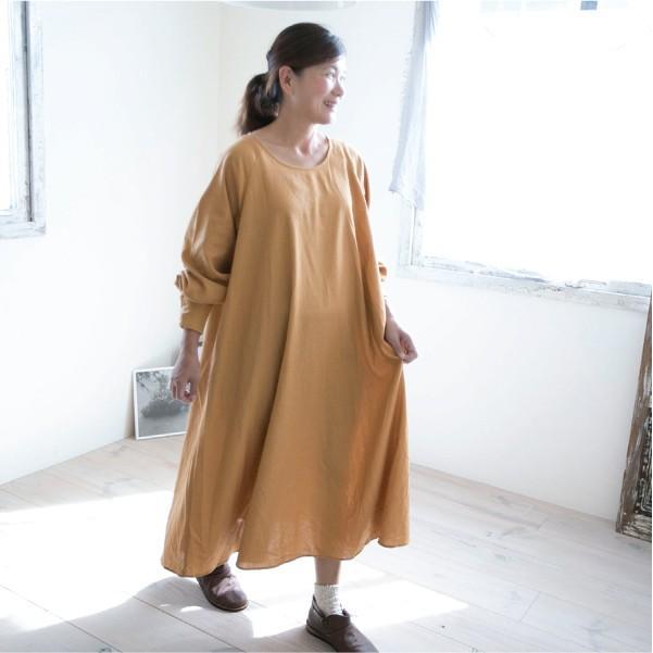 ワンピース  無地 ナチュラル服 シンプル 30代 40代 大人可愛い|ntsen|15