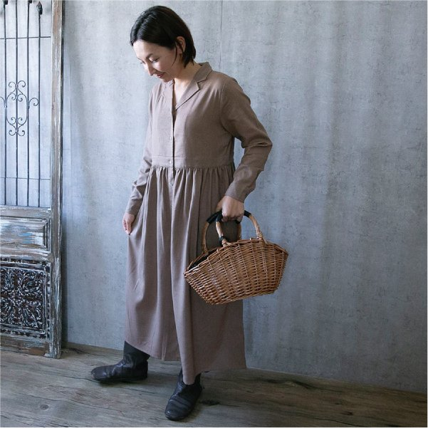 ワンピース  ナチュラル服 30代 40代 ゆったり 大きめサイズ カジュアル|ntsen|02