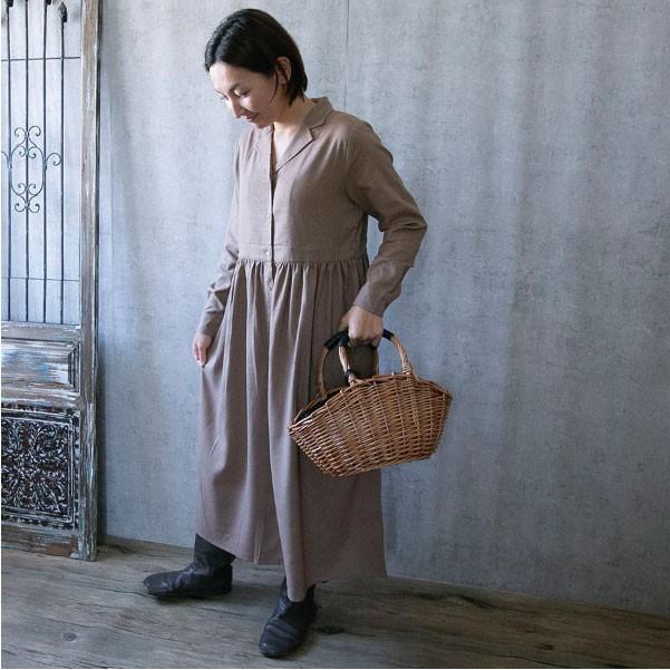 ワンピース  ナチュラル服 30代 40代 ゆったり 大きめサイズ カジュアル|ntsen|15