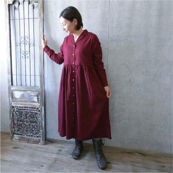 ワンピース  ナチュラル服 30代 40代 ゆったり 大きめサイズ カジュアル|ntsen|07