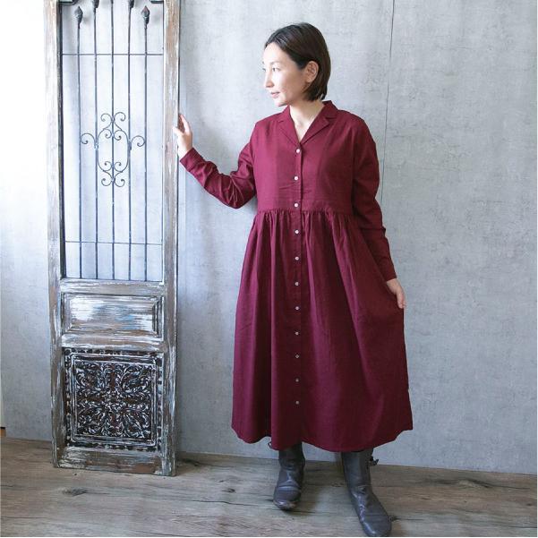 ワンピース  ナチュラル服 30代 40代 ゆったり 大きめサイズ カジュアル|ntsen|08