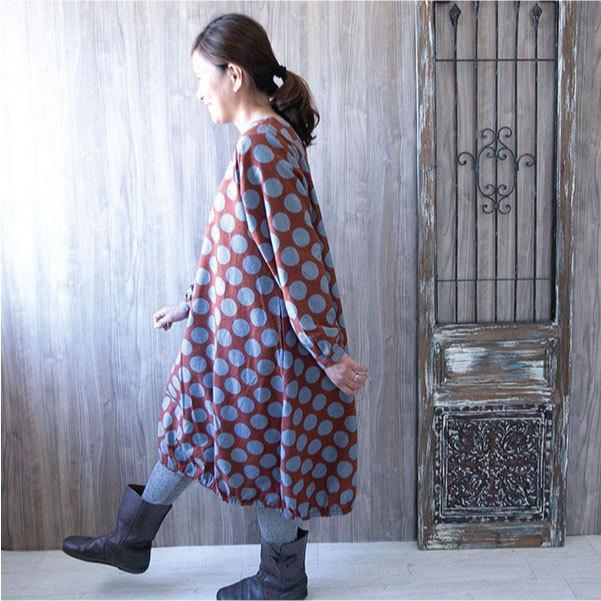 ワンピース  ナチュラル服 30代 40代 ゆったり 大きめサイズ カジュアル ntsen 02