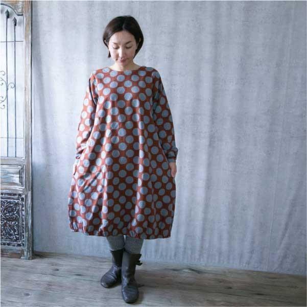 ワンピース  ナチュラル服 30代 40代 ゆったり 大きめサイズ カジュアル ntsen 07