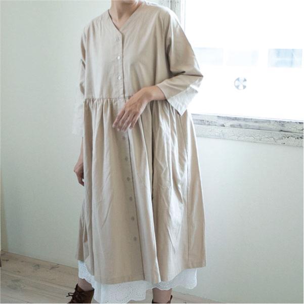 ワンピース   7分袖 レディ―ス ベーシック ナチュラル服 カジュアル|ntsen|06