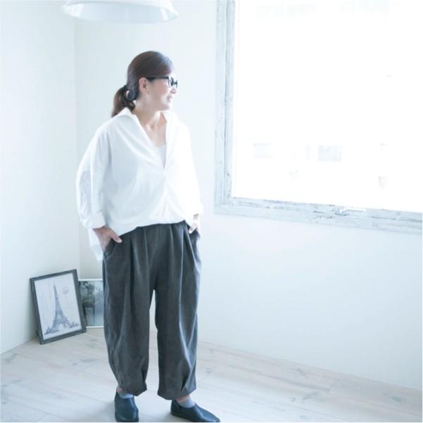 パンツ   ナチュラル服 カジュアル 30代 40代 ベーシック 無地|ntsen|04