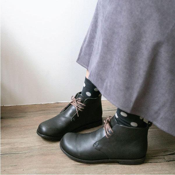 ブーツ  レザーブーツ オブリーク レースアップブーツ オブリーク モカステッチ 本革|ntsen|07