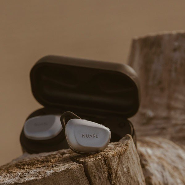 NUARL N6 +抗菌イヤピース バンドルセット aptX対応 IPX4耐水 連続11h再生 マイク付き Bluetooth5 完全ワイヤレス ステレオイヤホン(シルバー)|nuarl|05