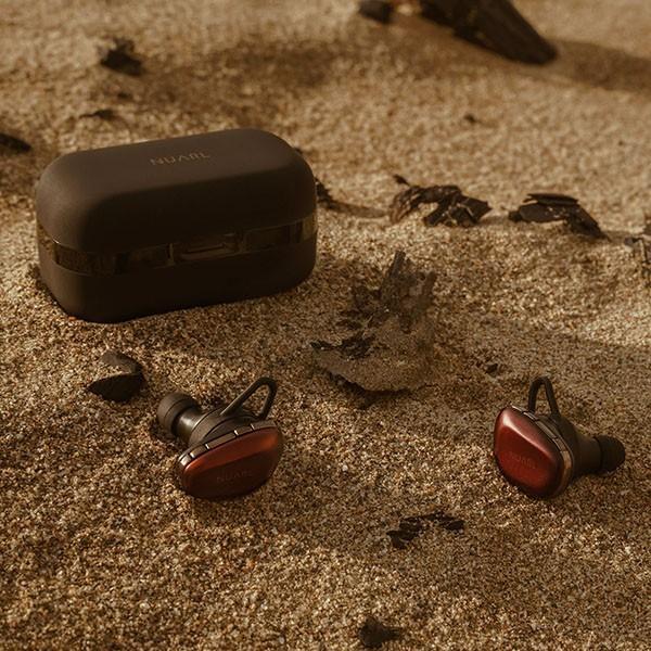 NUARL N6 Pro +抗菌イヤピース バンドルセット aptX対応 IPX4耐水 連続11h再生 マイク付き Bluetooth5 完全ワイヤレス ステレオイヤホン(レッドカッパー)|nuarl|04