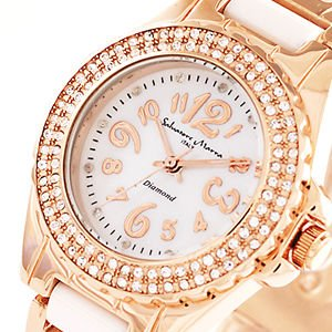 AneCan掲載人気 サルバトーレ・マーラ   ピンクゴールド 天然ダイヤ レディース腕時計 Salvatore Marra SM7031|nuchigusui
