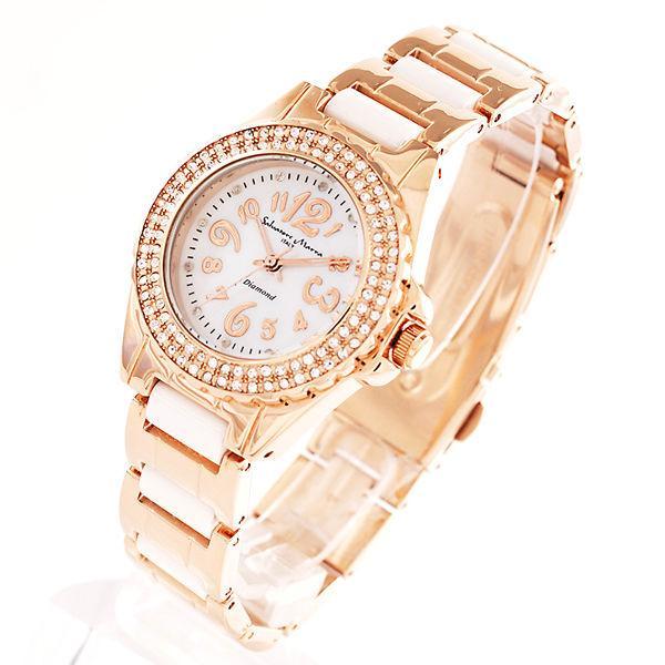 AneCan掲載人気 サルバトーレ・マーラ   ピンクゴールド 天然ダイヤ レディース腕時計 Salvatore Marra SM7031|nuchigusui|02
