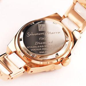 AneCan掲載人気 サルバトーレ・マーラ   ピンクゴールド 天然ダイヤ レディース腕時計 Salvatore Marra SM7031|nuchigusui|04