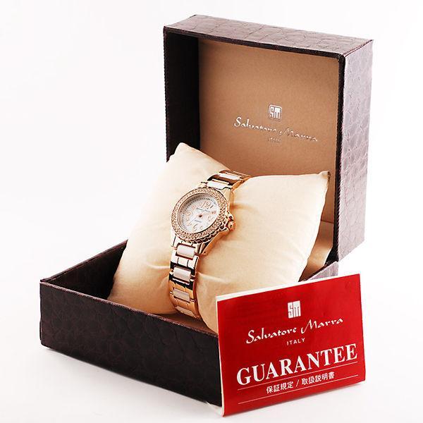 AneCan掲載人気 サルバトーレ・マーラ   ピンクゴールド 天然ダイヤ レディース腕時計 Salvatore Marra SM7031|nuchigusui|06