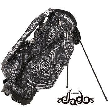 ジャド 2019 JADO Triple J Tattoo series 軽量 スタンド キャディバッグ デジカモブラック
