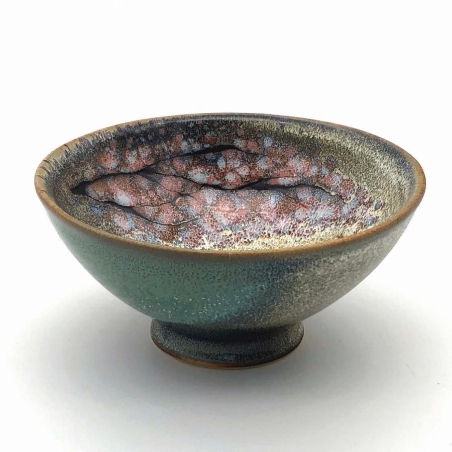 ご飯茶碗『桜』グリーン|nunobikiyaki