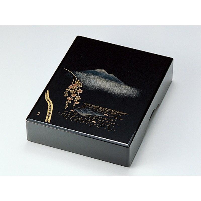 文箱 書類入れ 書類箱 A4サイズ 越前塗り 越前漆器 文庫 漆塗り 故郷の詩 黒 木箱入り 木製 うるし塗り