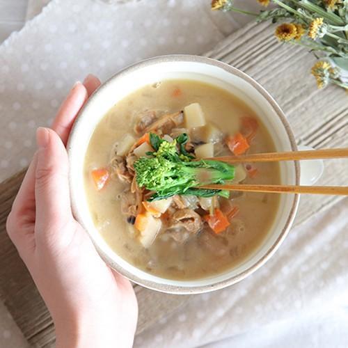 スープご飯 お粥×リゾット 無添加 レトルトスープ nutrth 和風味噌クラムチャウダー 210g|nutrth|02