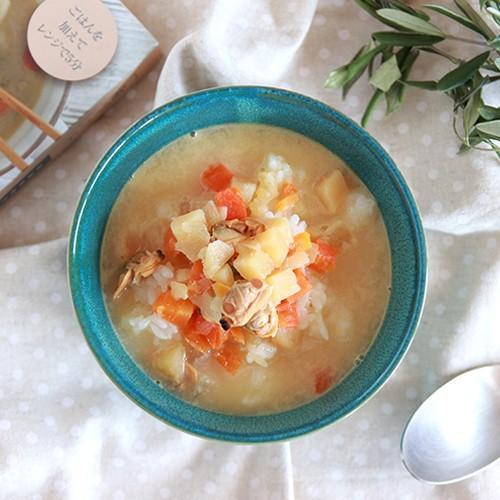 スープご飯 お粥×リゾット 無添加 レトルトスープ nutrth 和風味噌クラムチャウダー 210g|nutrth|03