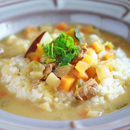 スープご飯 お粥×リゾット 無添加 レトルトスープ nutrth 和風味噌クラムチャウダー 210g|nutrth|04