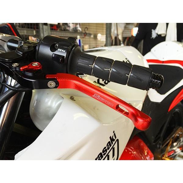 KLX 可倒式クラッチ&ブレーキレバー Dトラッカー Ninja250 Z250 黒 [SP0028BK]