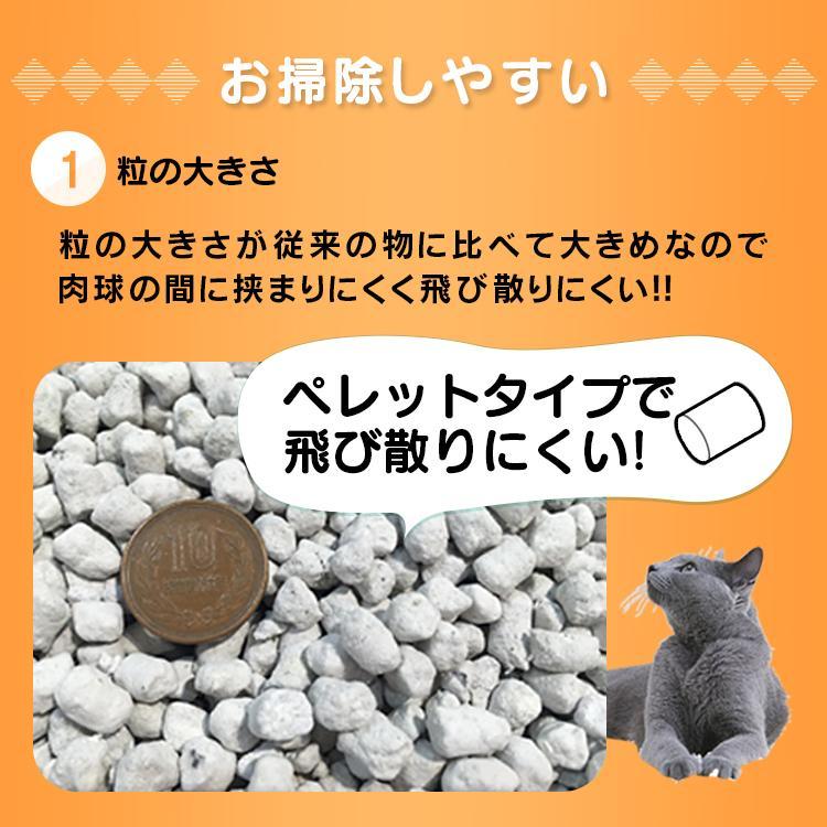 猫砂 紙 ペレット 燃えるゴミ 固まる 燃やせる 再生パルプ 飛び散り防止 ペレットタイプ 猫トイレ アイリスオーヤマ 紙の猫砂 7L×6袋 KMN-70N|nyanko|05