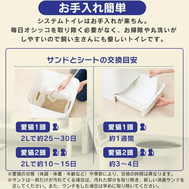 猫 トイレ 猫トイレ おすすめ 大型 システム おしゃれ におい対策 上から 匂い対策 お部屋のにおいクリア消臭 猫用システムトイレ ONC-430 アイリスオーヤマ nyanko 15