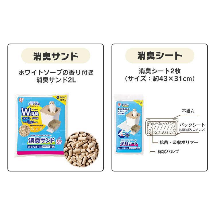 猫 トイレ 猫トイレ おすすめ 大型 システム おしゃれ におい対策 上から 匂い対策 お部屋のにおいクリア消臭 猫用システムトイレ ONC-430 アイリスオーヤマ nyanko 18