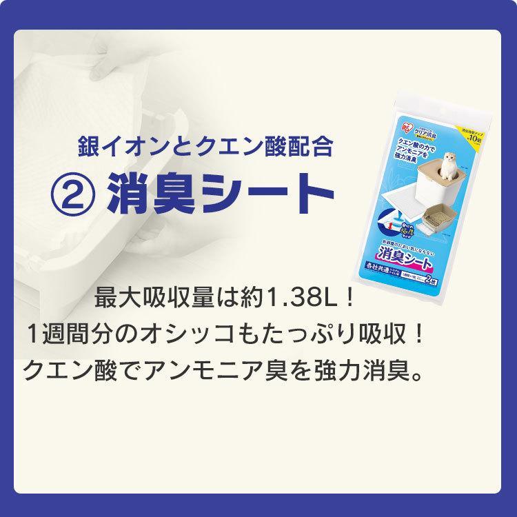 猫 トイレ 猫トイレ おすすめ 大型 システム おしゃれ におい対策 上から 匂い対策 お部屋のにおいクリア消臭 猫用システムトイレ ONC-430 アイリスオーヤマ nyanko 06