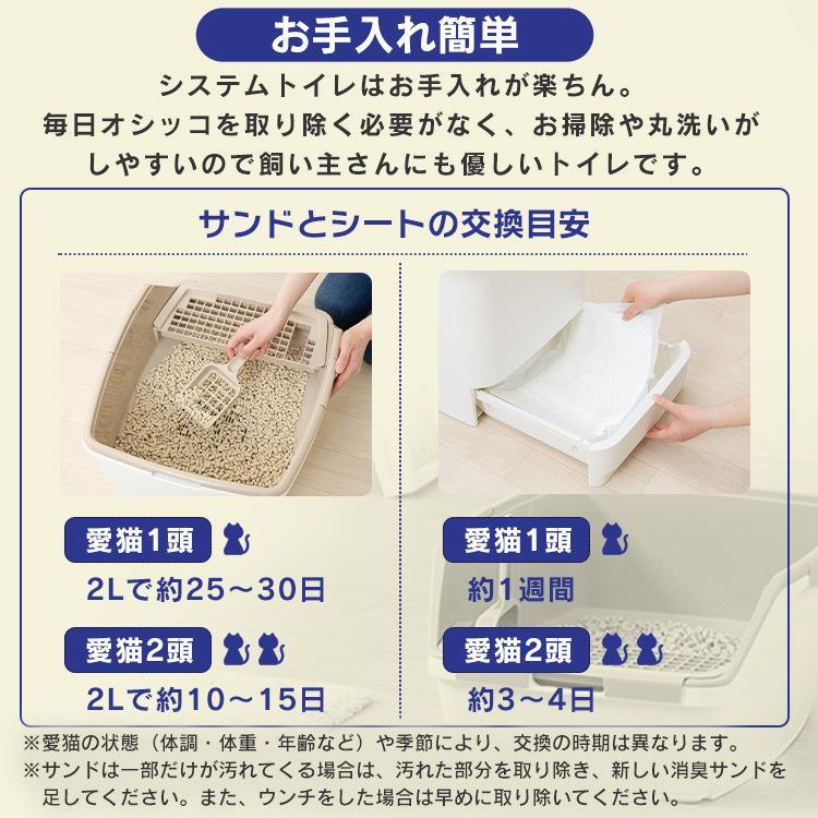 猫 トイレ 猫トイレ おすすめ 大型 システム おしゃれ におい対策 匂い対策 お部屋のにおいクリア消臭 猫用システムトイレハーフ ONCH-530 アイリスオーヤマ|nyanko|14
