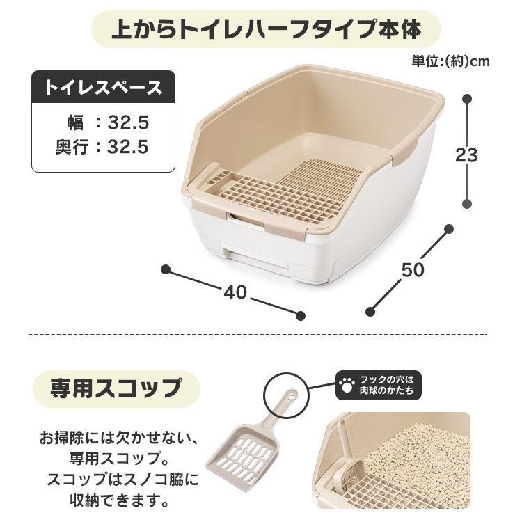 猫 トイレ 猫トイレ おすすめ 大型 システム おしゃれ におい対策 匂い対策 お部屋のにおいクリア消臭 猫用システムトイレハーフ ONCH-530 アイリスオーヤマ|nyanko|15