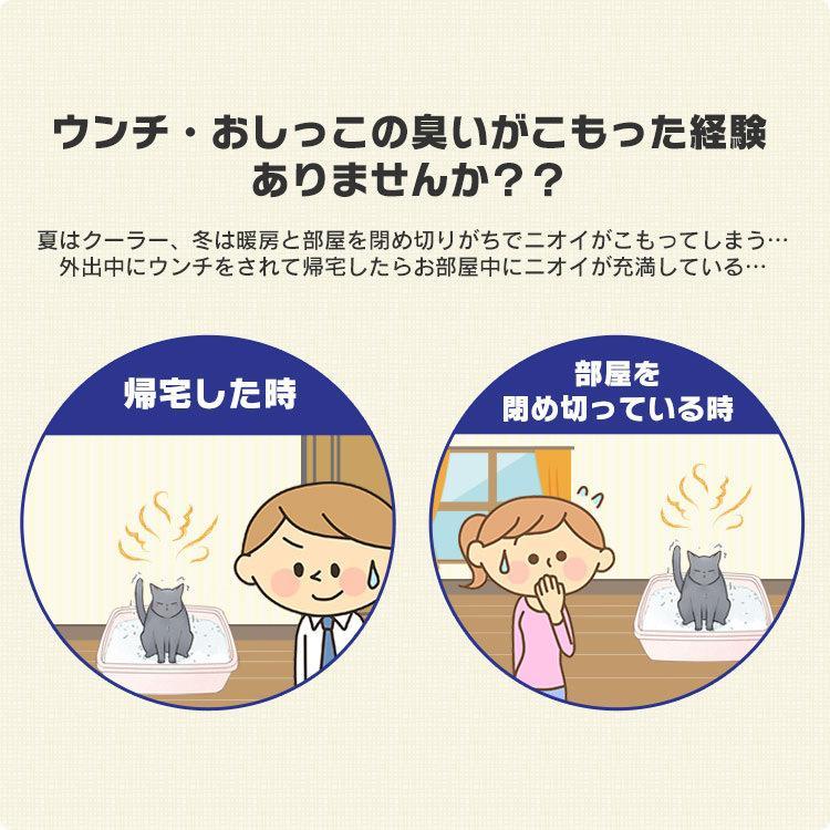 猫 トイレ 猫トイレ おすすめ 大型 システム おしゃれ におい対策 匂い対策 お部屋のにおいクリア消臭 猫用システムトイレハーフ ONCH-530 アイリスオーヤマ|nyanko|03
