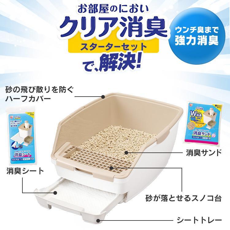 猫 トイレ 猫トイレ おすすめ 大型 システム おしゃれ におい対策 匂い対策 お部屋のにおいクリア消臭 猫用システムトイレハーフ ONCH-530 アイリスオーヤマ|nyanko|04
