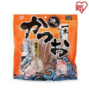 猫 おやつ 焼きかつお一本仕立て かつお 厳選だし味 15本入 P-YK15 アイリスオーヤマ|nyanko|03