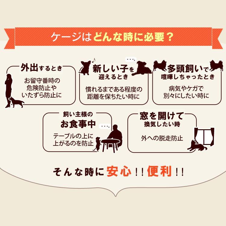 犬 ケージ 室内 おしゃれ 1段 小型犬用 猫ケージ キャットケージ ペットケージ おしゃれ アイリスオーヤマ カラースリムケージ P-CSC-901|nyanko|03