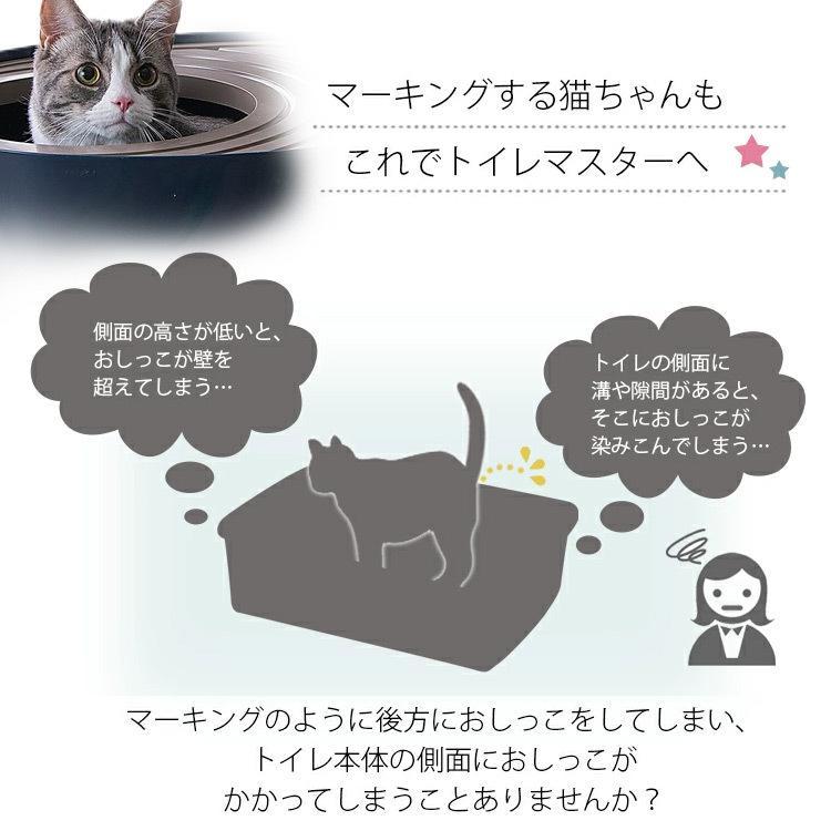 猫トイレ カバー におい対策 おしゃれ 収納 目隠し 猫 トイレ アイリスオーヤマ ネコトイレ ペット用 ペットトイレ 上から猫トイレプチ PUNT430 nyanko 07
