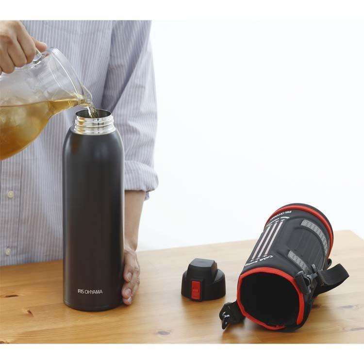 水筒 ステンレスケータイボトル ダイレクトボトル DB-1500 レッド ブルー アイリスオーヤマ|nyanko|02