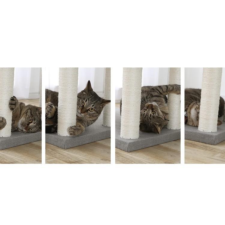 タイムセール/ キャットタワー 猫タワー 猫 猫用 タワー置き型 据え置き 大型 多頭飼い 大型猫 大型猫用 ハンモック ファブルック生地 CCCT-6060S おしゃれ|nyanko|13