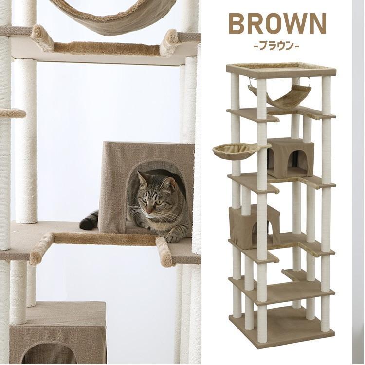 タイムセール/ キャットタワー 猫タワー 猫 猫用 タワー置き型 据え置き 大型 多頭飼い 大型猫 大型猫用 ハンモック ファブルック生地 CCCT-6060S おしゃれ|nyanko|18