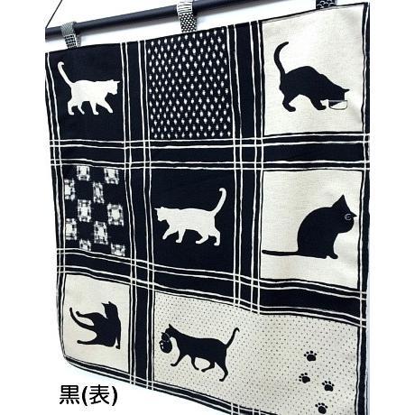 猫 ネコ ねこ キャット インテリア タペストリー 猫柄 和柄 手作り (オリジナルタペストリー 格子猫) nyanpakusengen 03