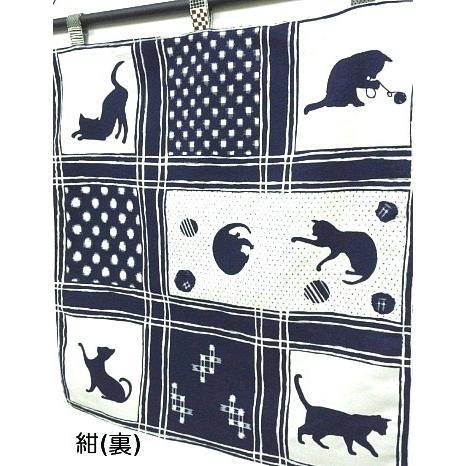 猫 ネコ ねこ キャット インテリア タペストリー 猫柄 和柄 手作り (オリジナルタペストリー 格子猫) nyanpakusengen 06