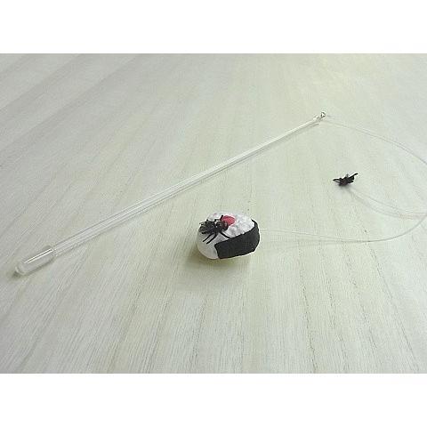 猫 ネコ ねこ じゃらし ジャラシ おもちゃ 付け替え 棒なし 手作り フェイク ハエ 粘土 おにぎり (付替じゃらしハエちゃう!?2)(1180)|nyanpakusengen|04