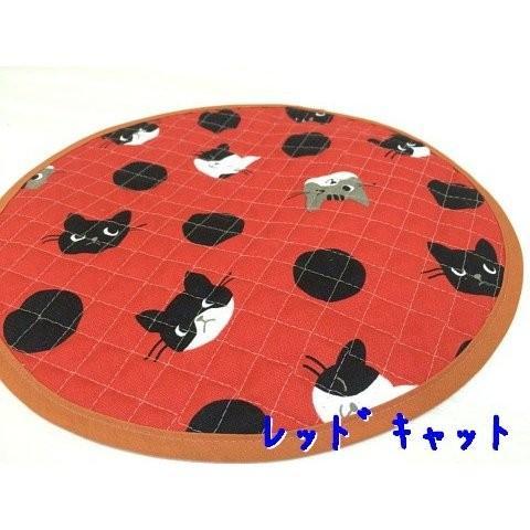 猫 ネコ ねこ キャット マット ベッド キルティング 丸型 円形 手作り ( 丸マット 小) nyanpakusengen 04