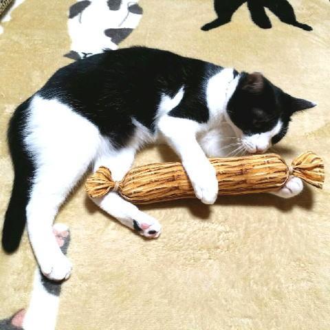 猫 ネコ ねこ キッカー おもちゃ マタタビ またたび 国産 天然 けりぐるみ ケリケリ わら納豆 (わらニャッ豆)(719) nyanpakusengen 08