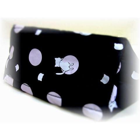 猫 ネコ ねこ キャット ポーチ バッグ キルティング 軽量 リバーシブル プーちゃん 猫柄 (プーちゃんポンディングリバーシブルポーチ(910)|nyanpakusengen|05